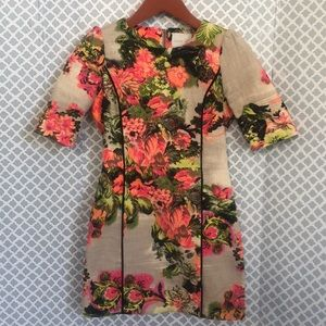 Line & Dot piped bright floral dress